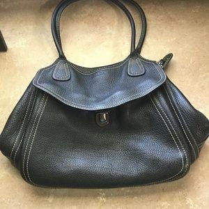 Prada Vitello Daino Easy Pebbled Shoulder Bag